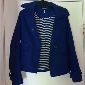 Splendid Cobalt Blue Wool Blazer Jacket Small S